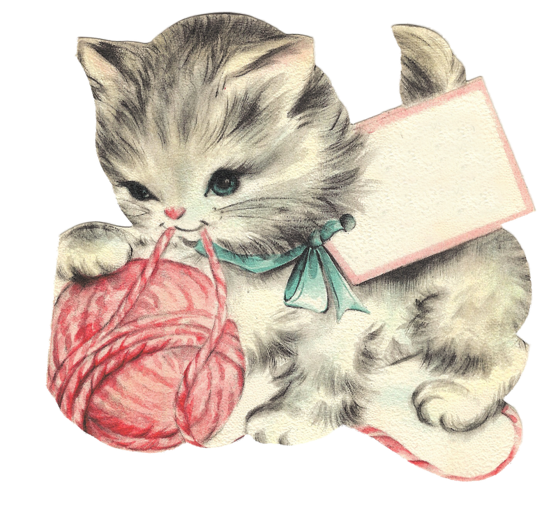 Character Kittay Cat Art Kittens Plays Birthday Cards