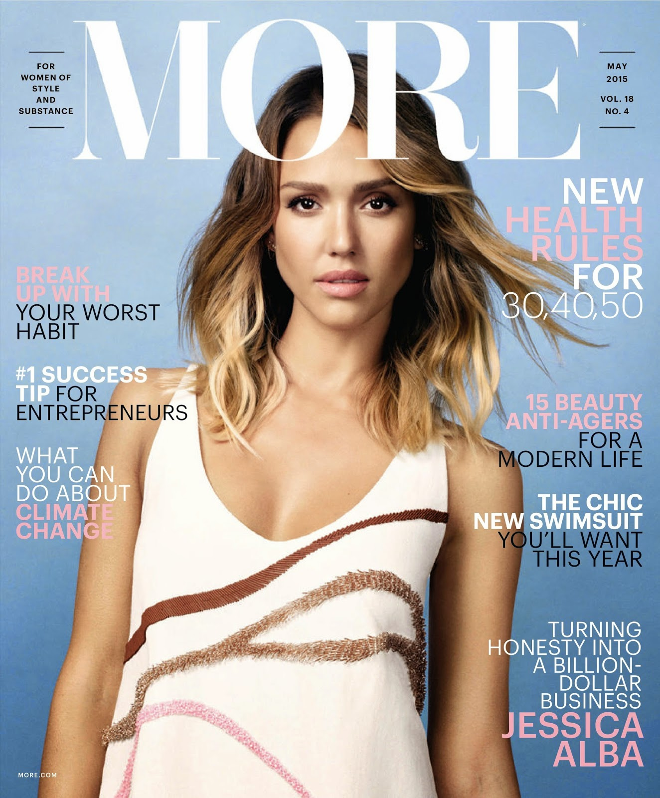 Actress @ Jessica Alba - MORE Magazine, May 2015
