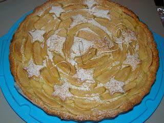 crostata con mele e crema