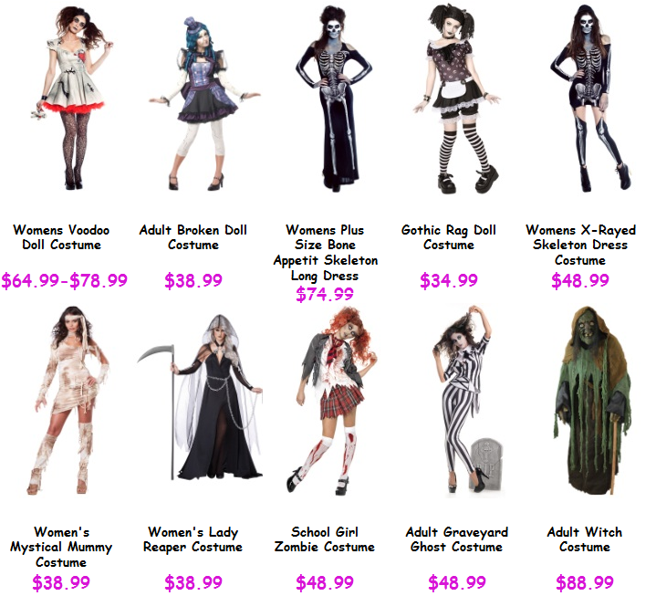 top 10 scary halloween costumes for women