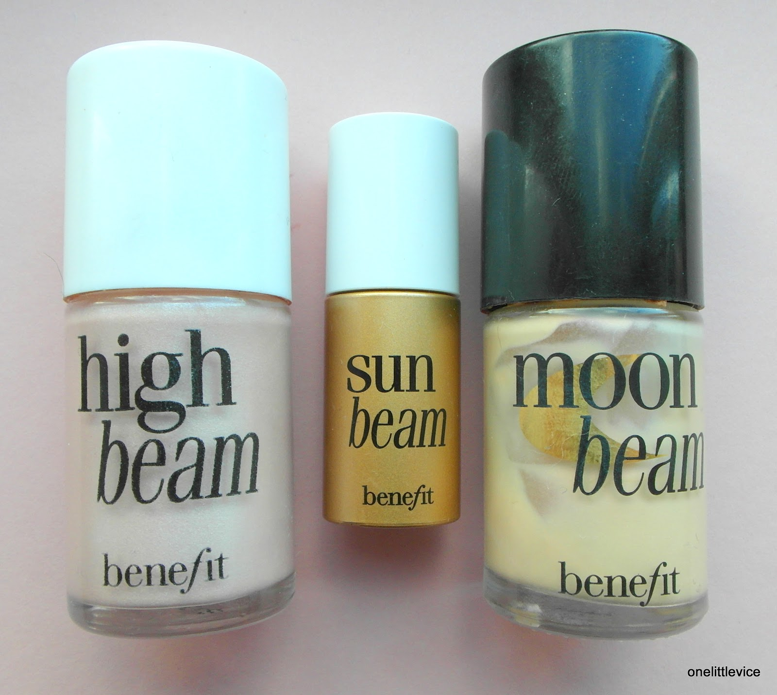 Benefit High Beam, Sun Beam and Moon Beam Swatches  One Little Vice