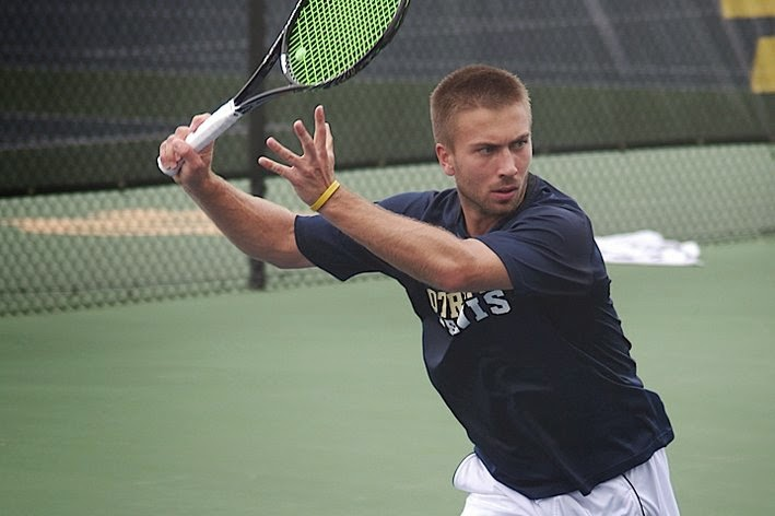 Notre Dame tennis player Matt Dooley reveals his homosexuality.