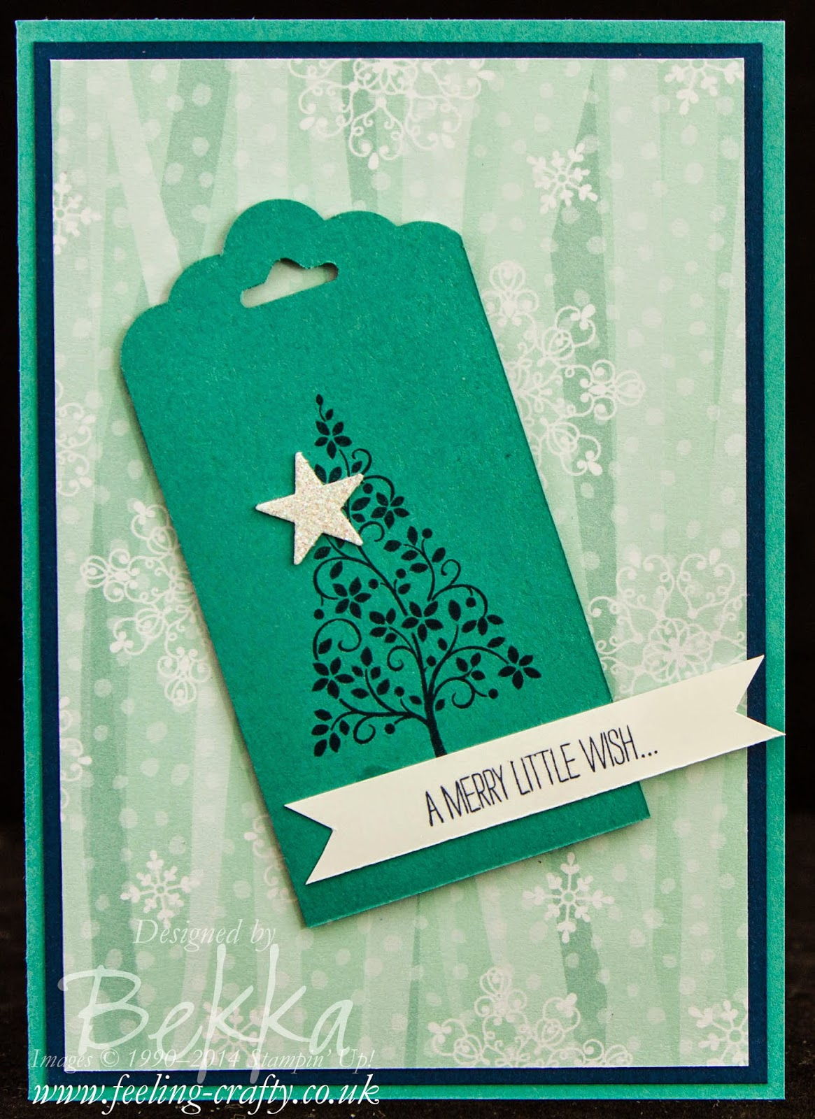 Fast and Fabulous Christmas Card Featuring the Festival of Trees Stamp Set - check this blog for lots of great ideas