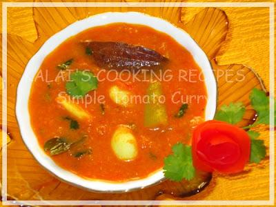 Simple Tomato Curry / Thakkali Kuzhambu - South Indian Style
