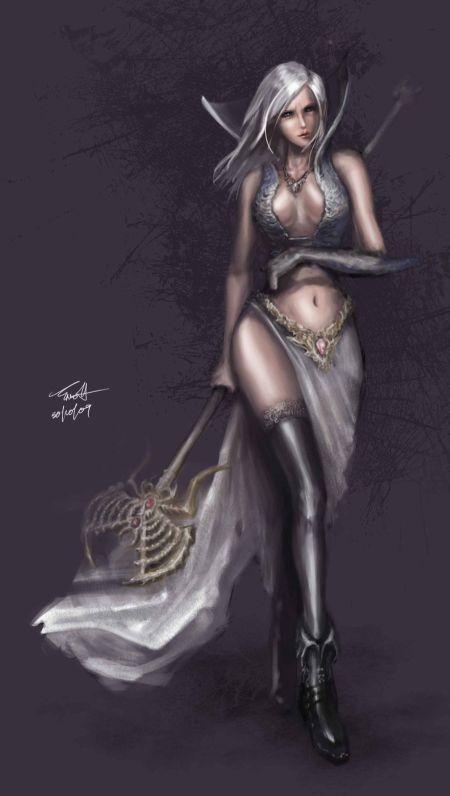 Francis Tneh deviantart ilustrações mulheres fantasia Feiticeira sensual