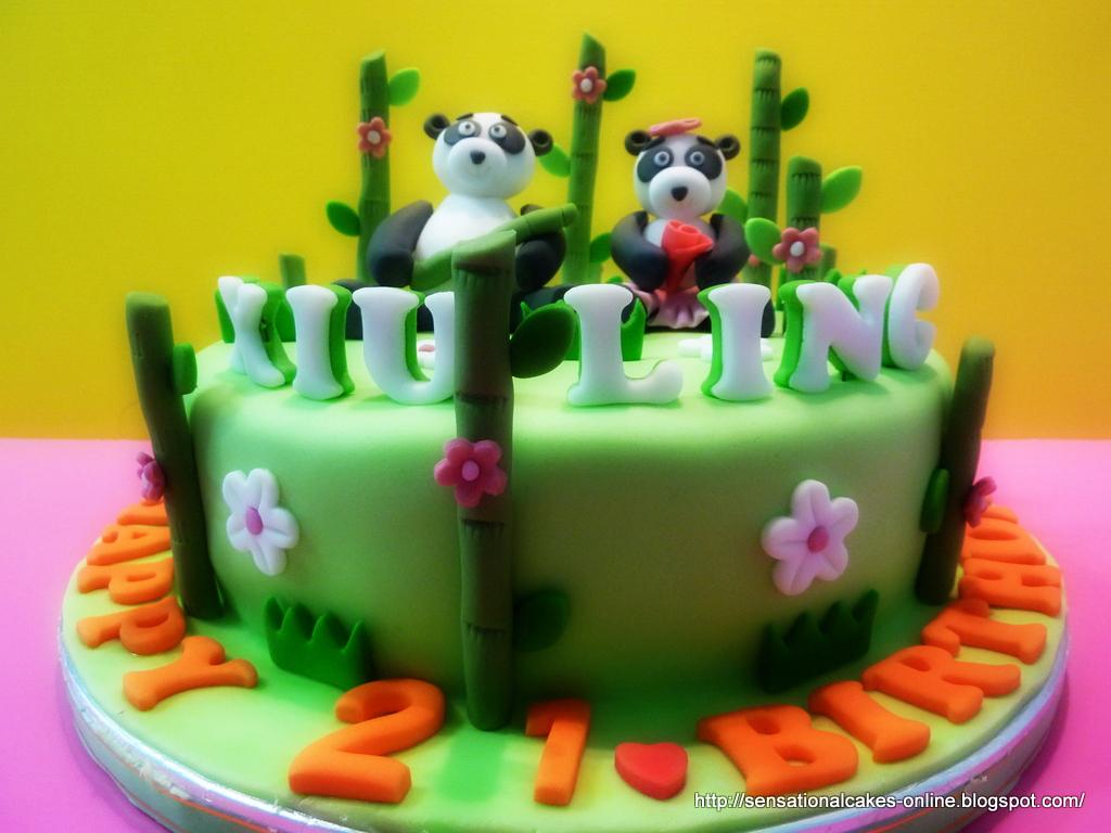 The Sensational Cakes 3d Panda Theme Cake For Xiu Ling Singapore