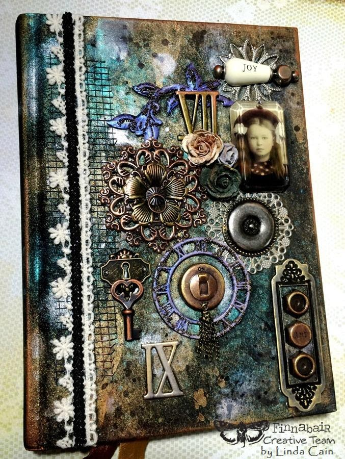 Altered Book Cover Tutorial ~ Friends in art altered journal cover for finnabair