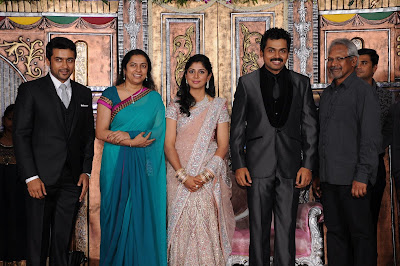 Karthi reception photo with Mani Ratnam