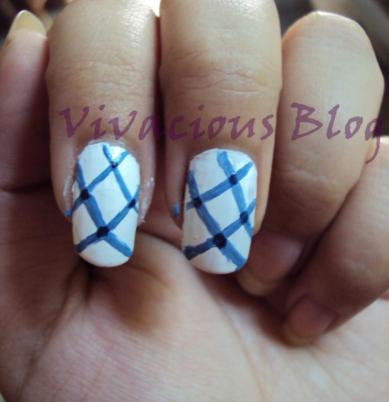 Colorful Criss Cross Nail Art