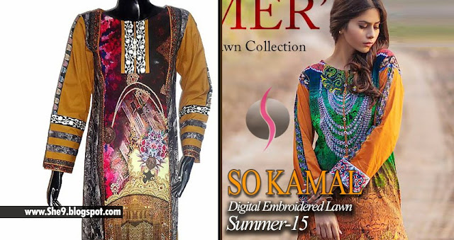 So Kamal Digital Embroidered Lawn Prets