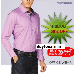 Flipkart : Buy Provogue Clothing Get 2 & getAdditional 20% Off ,starting at Rs. 894 only – BuyToEarn