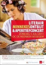 Affiche Literair Minnekesontbijt & gratis aperitiefconcert