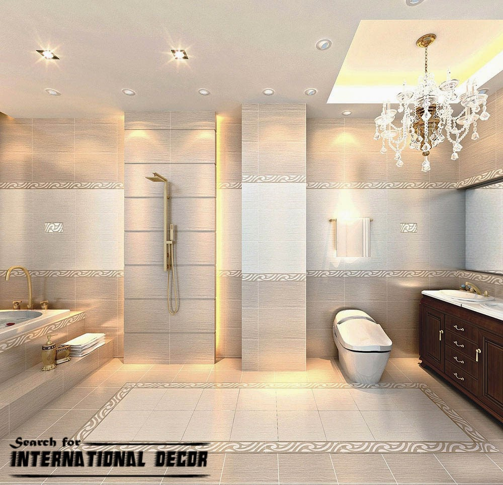 Top 15 chinese ceramic tile in the interior for Bathroom interior tiles design
