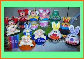 Potinhos decorados R$ 6,00 cada