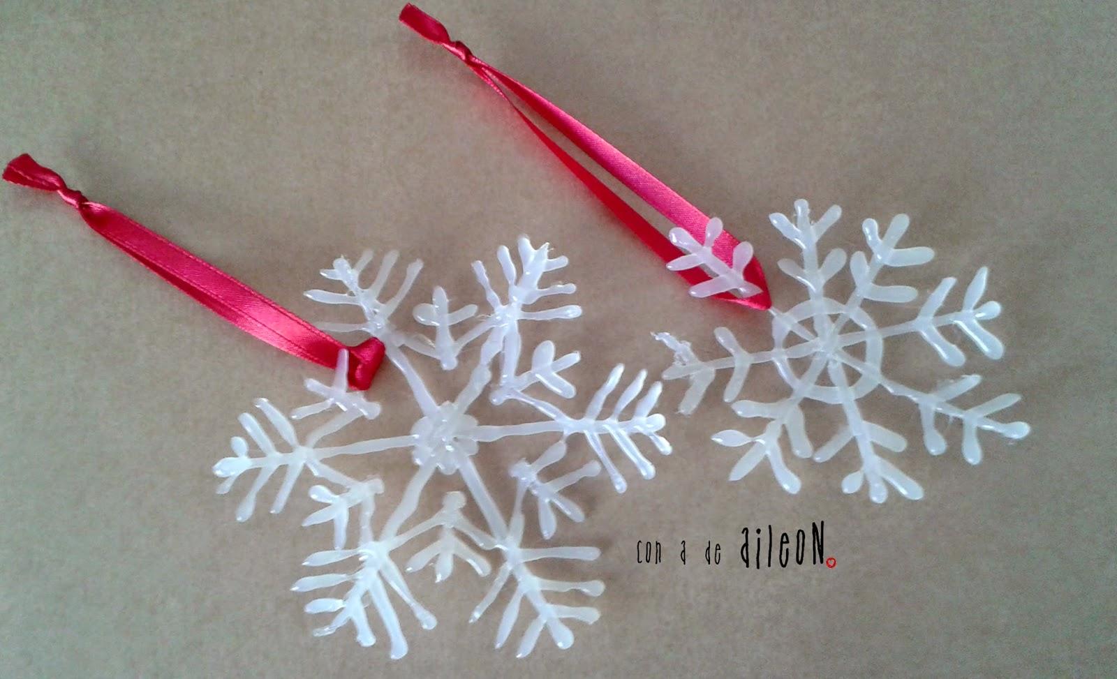silicona copos-nieve aileon adorno navidad