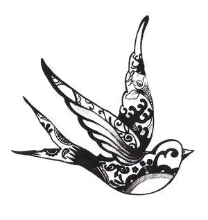 birds tattoos for you sparrow bird tattoo outline. Black Bedroom Furniture Sets. Home Design Ideas
