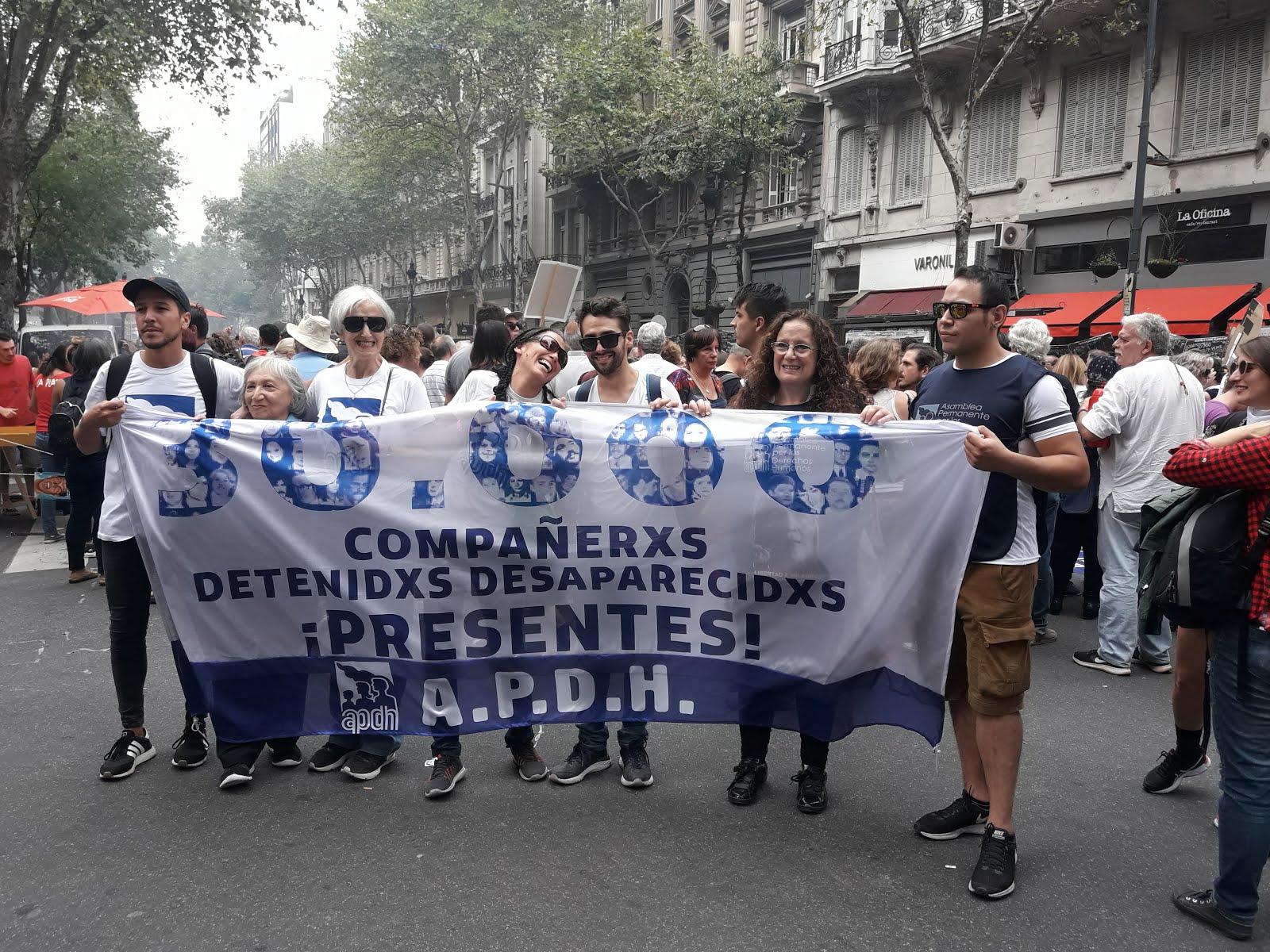 APDH se moviliza contra el Ajuste y la impunidad