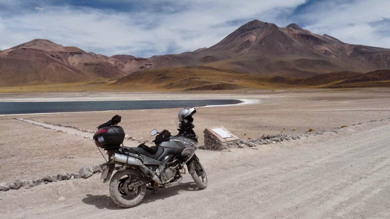 De moto na Laguna Miscanti - 2015