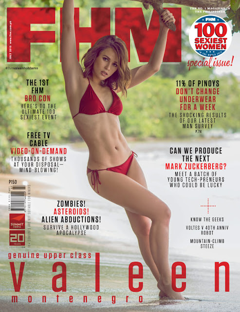 Valeen Montenegro FHM July 2015 Cover Girl
