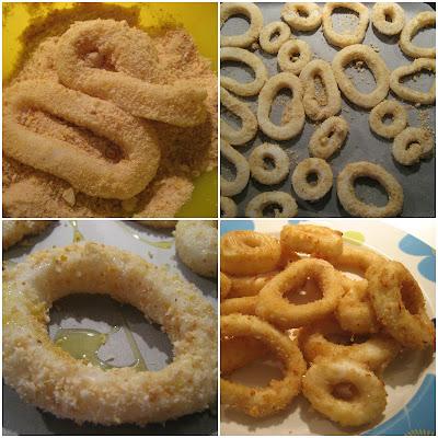 anelli di totano al forno...che si credevano fritti!