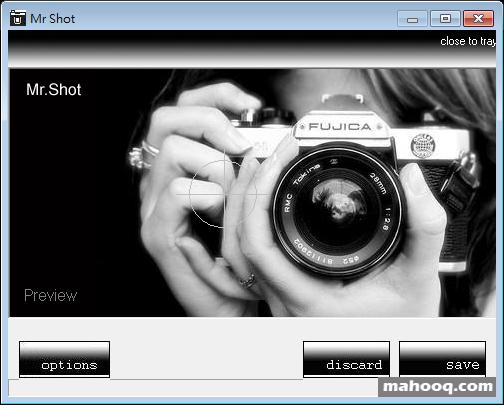 擷取螢幕畫面軟體推薦:Mr.Shot 下載