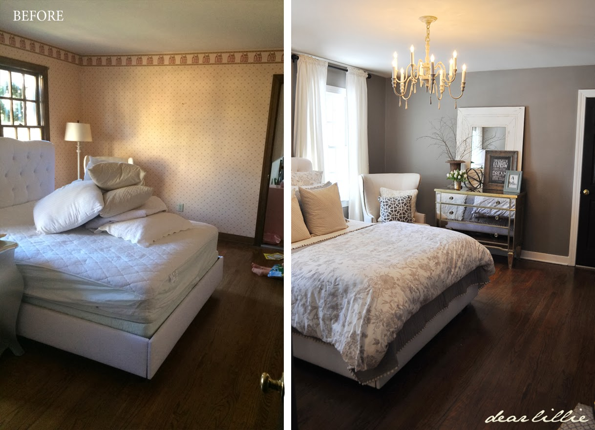 dear lillie our gray guest bedroom and a full source list we still need to add a rug and some more artwork on the walls but it sure is a big improvement from the beginning on january when we started working on