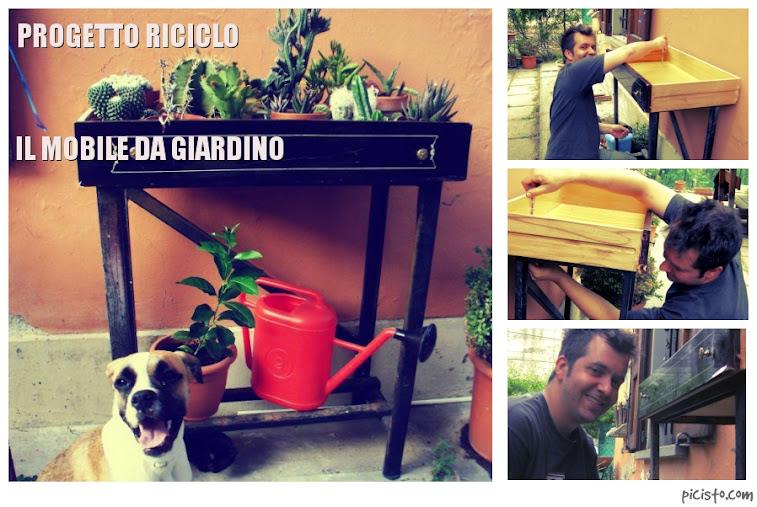 Progetto Riciclo: il mobile da giardino a costo zero