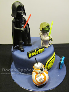 cake bb8 darth vader yoda star wars birthday cake