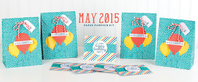May 2015 Paper Pumpkin Birthday Bundle Kit #stampinup #paperpumpkin