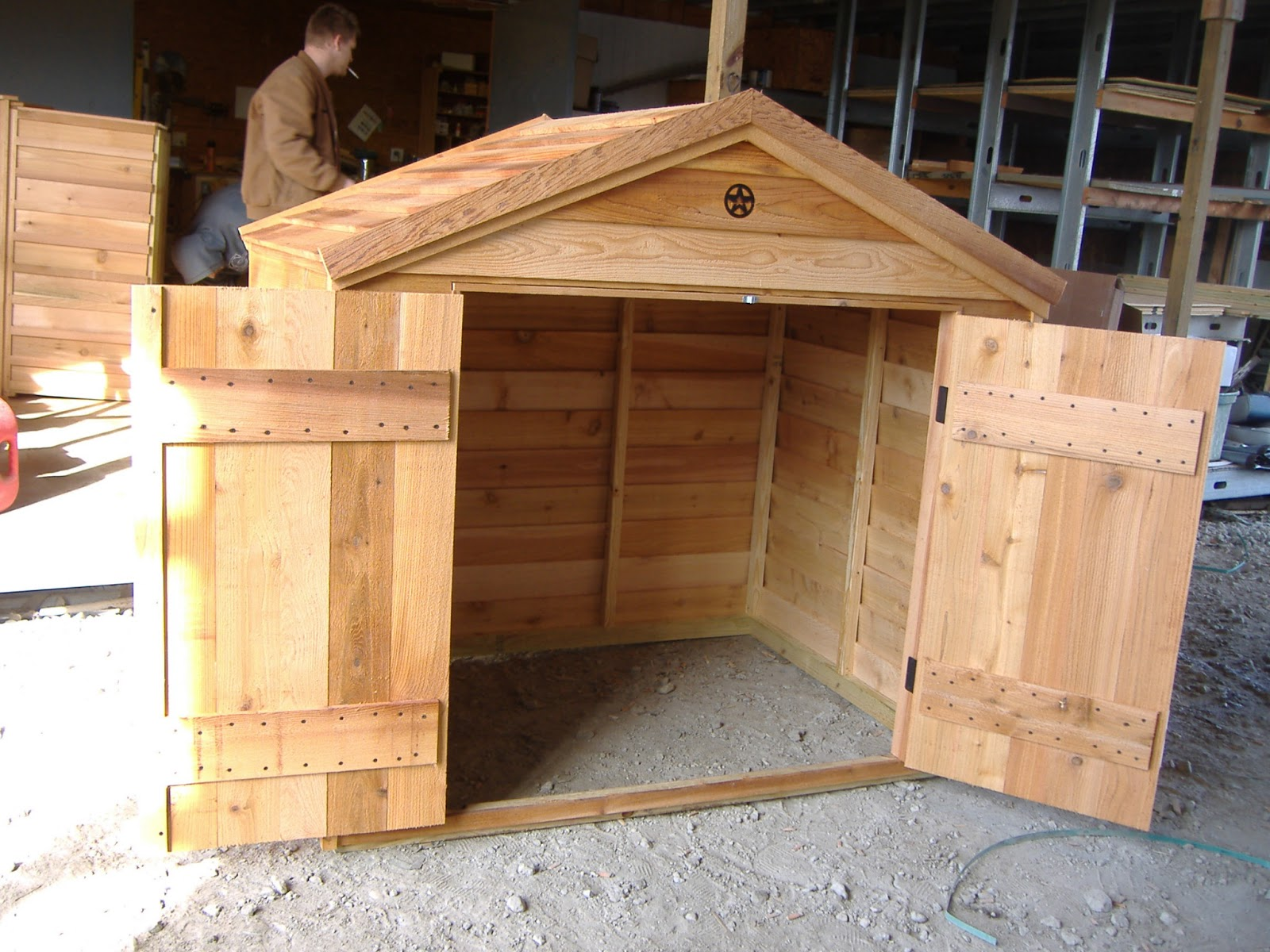extra large ac dog house | custom ac heated insulated dog house