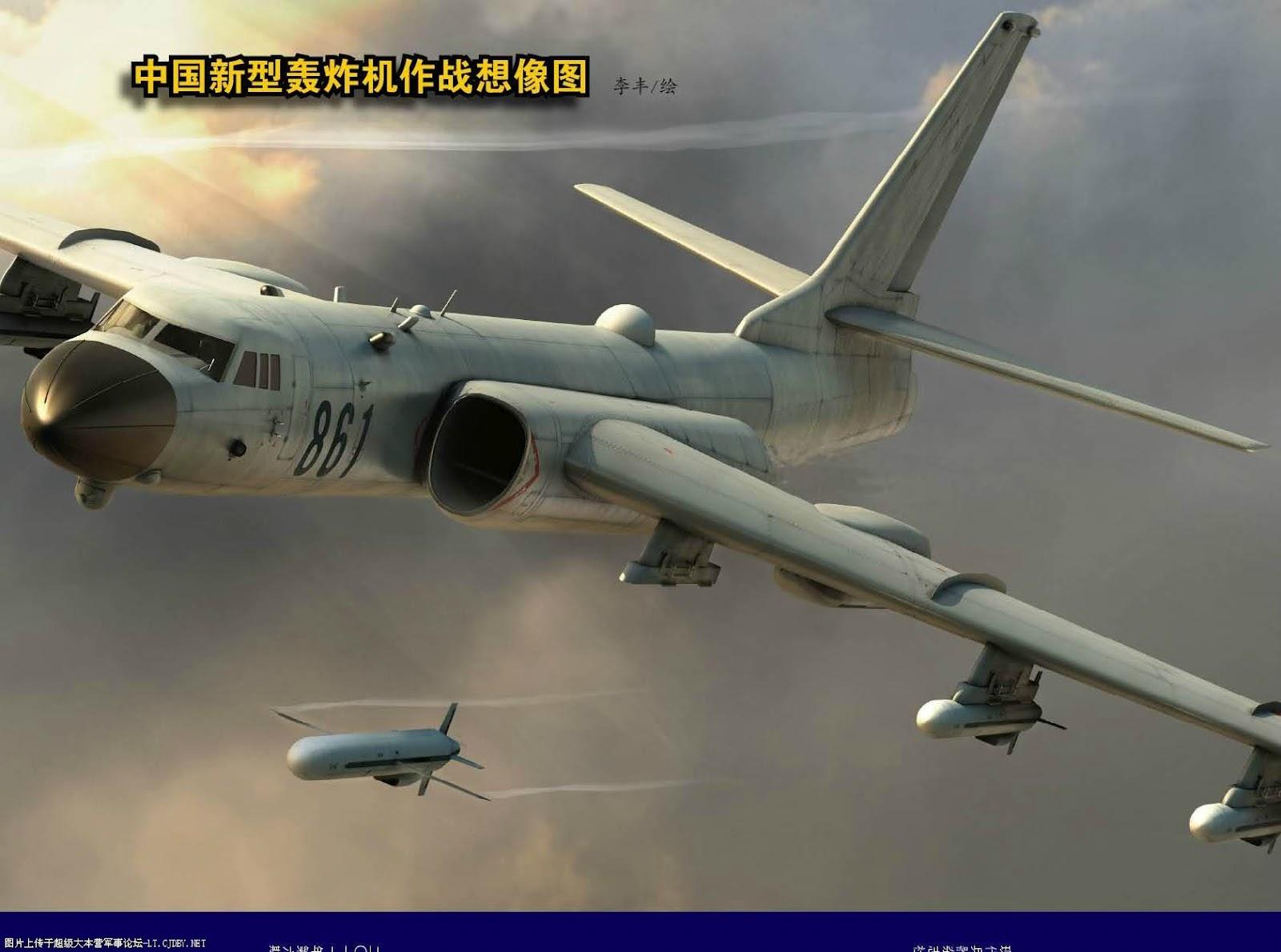Artistic Impression of Chinese H-6K Long Range Bomber ...