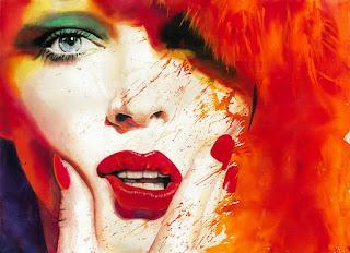 rostros femeninos pintura moderna