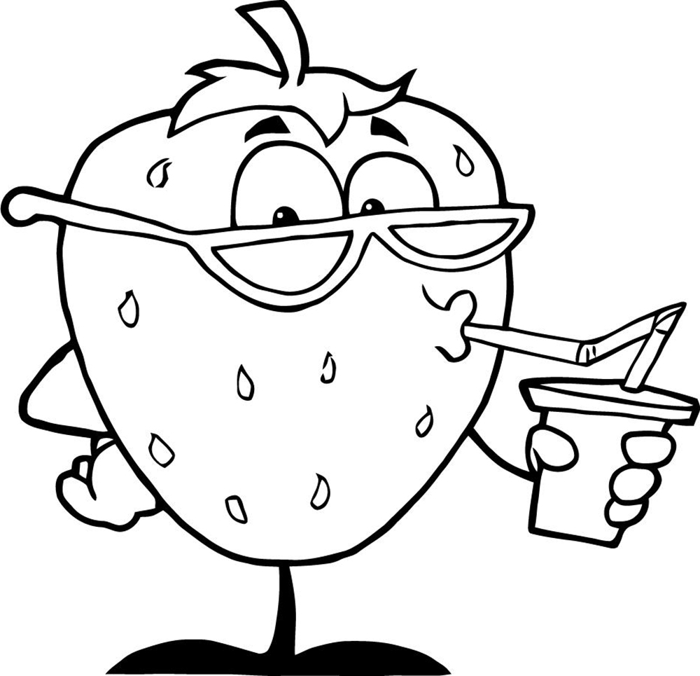 Food Printable Coloring Page Kids | Nature And Food Types Coloring Pages