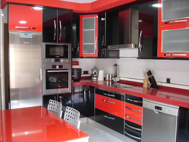 Muebles Cocina Color Rojo : Mueblemina moderno mueble de cocina