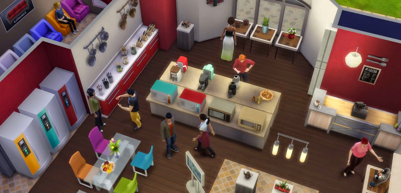 sims 4 how to put chef station through wall