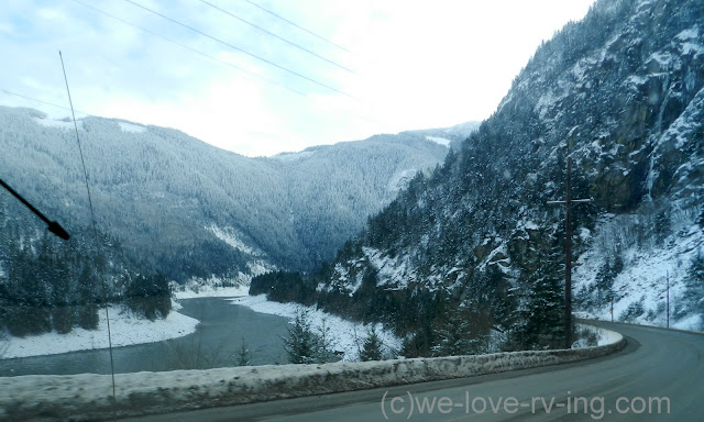 A view of the river from the highway on the way to Yale, BC