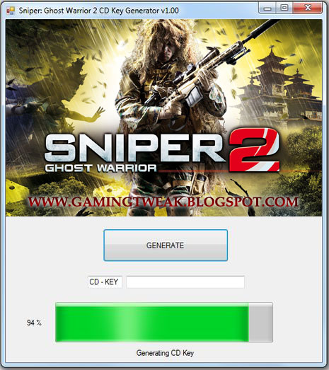 Sniper  Ghost Warrior 2 CD Key Generator V1 01  UPDATED