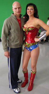 Adrianne Palicki in Wonder Woman shorts
