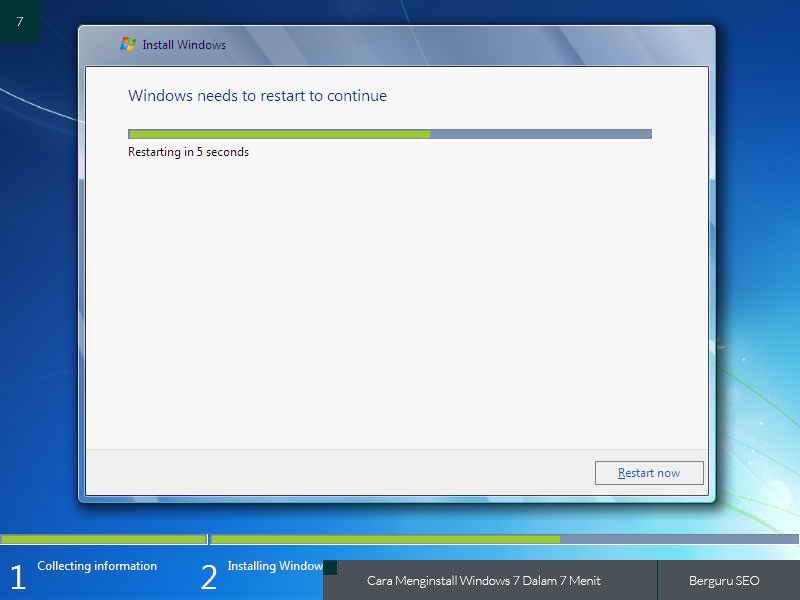 Cara Menginstall Windows 7 gambar 7