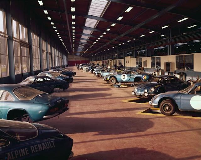 the Caterham-Renault- Alpine A110 sports car By the Société des Automobiles Alpine Caterham
