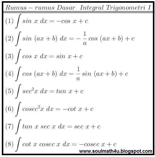 http://soulmath4u.blogspot.com/2014/02/integral-trigonometri.html