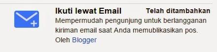 Cara Membuat Berlangganan/Subscribe Email di Blog