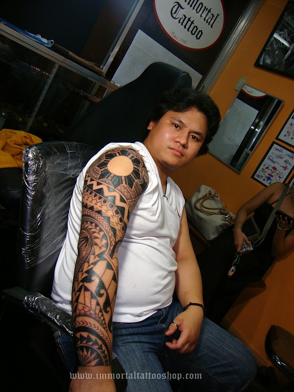 Filipino Australian got his full sleeve Filipino Tattoo in 1 session 8  title=