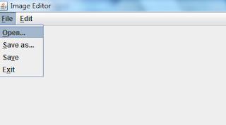 Image editor file menu