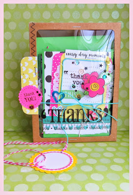 SRM Stickers Blog - *{A Thank You for a Thank You}* by Shannon - #cards #cardset #thankyou #windowboxkraft #kraft #punchedpieces #stitches #stickers #twine #labels #doilies #DIY