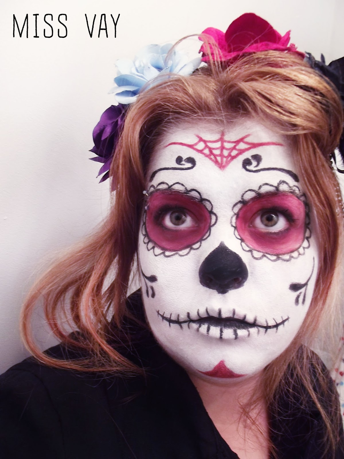 Maquillage pour le dia de los muertos sugar skull calaveras miss vay blogue lifestyle - Maquillage mexicain facile ...