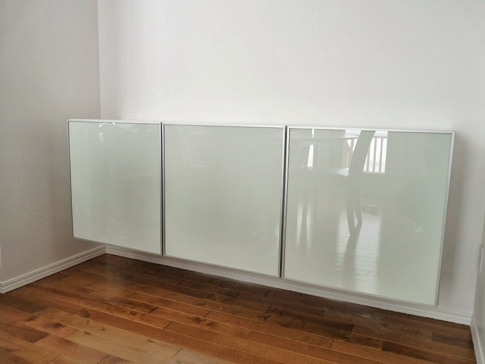 how to turn three ikea besta cabinets into a floating credenza, Gestaltungsideen