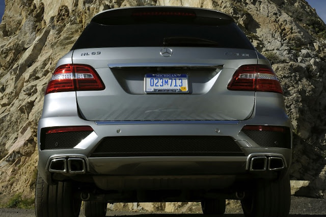 2015 Redesign model ML63 AMG Mercedes-Benz back view