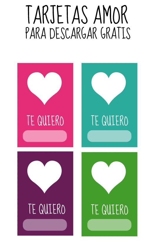 Tarjetas Para Imprimir De Amor - Tarjetas del día del amor y la amistad para imprimir