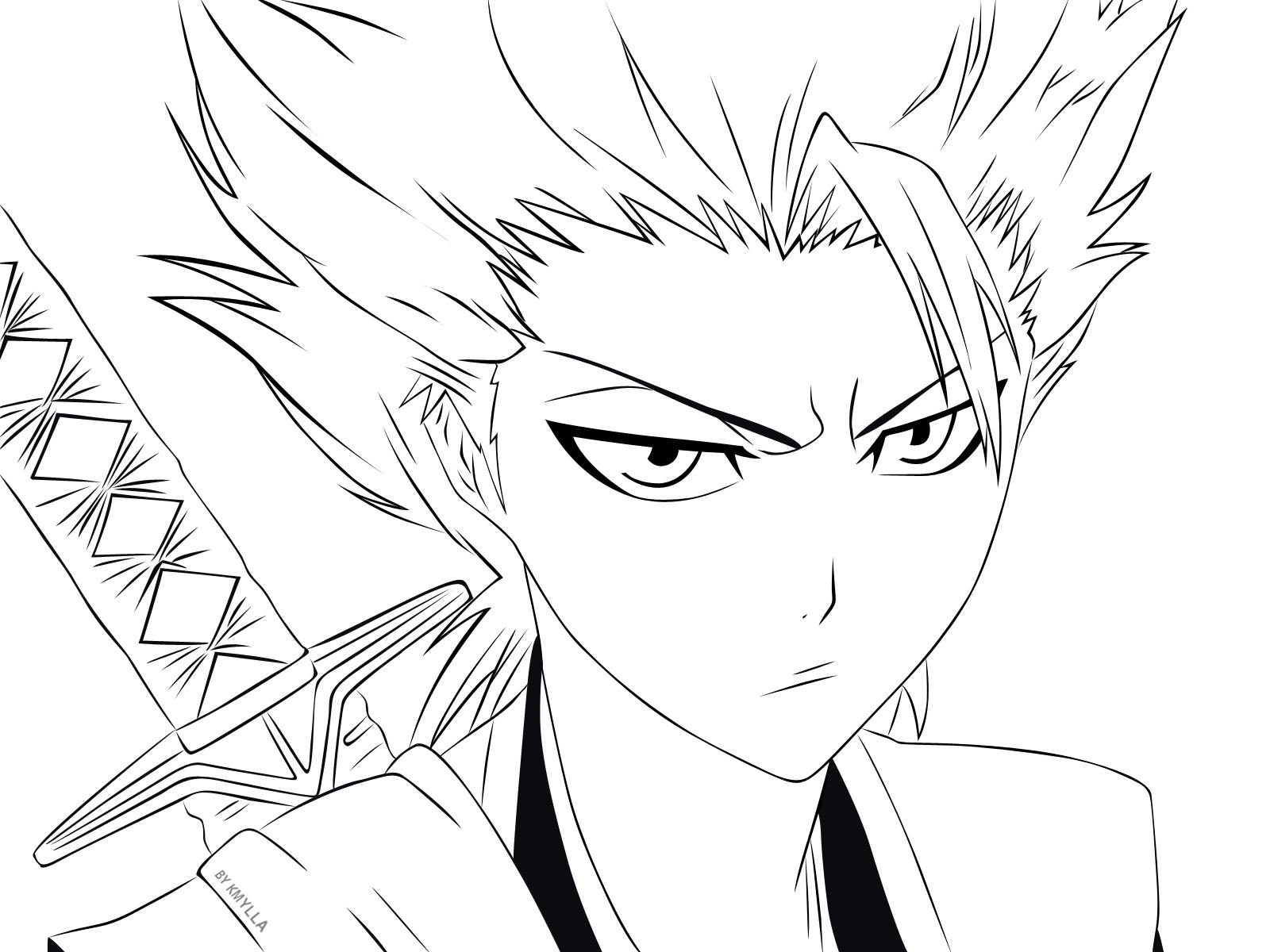 Line Art With Mr E : Vídeo lineart hitsugaya toushirou kmylla animes